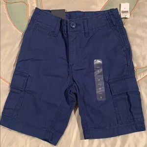 NWT boys cargo shorts blue size 5 GAP